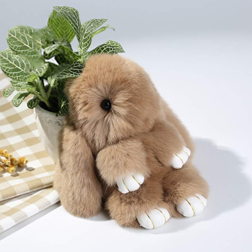 BAOBAO Bunny Fur Rex Rabbit Pompom Ball Doll Pendant Keychain Car Handbag Keyring
