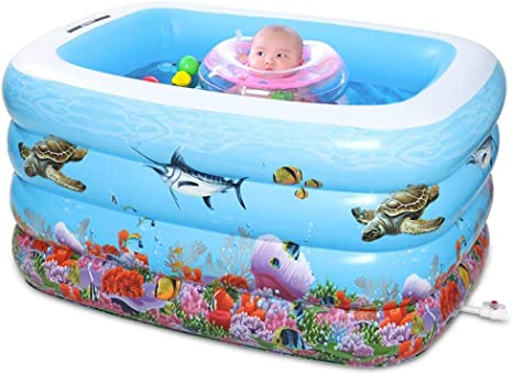 YAN Bañera Piscina para bebés Piscina para niños Piscina ...