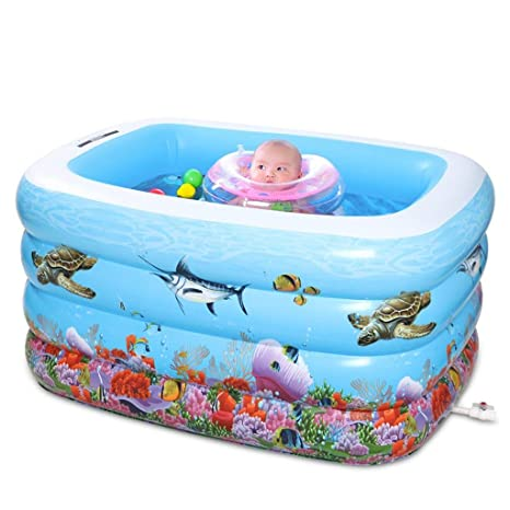YAN Bañera Piscina para bebés Piscina para niños Piscina Hinchable para el hogar Piscina para niños Piscina Extragrande