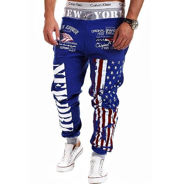 Casuali Sportivi Qissy®uomini New York Di Tuta Pantaloni q7zXwxzP
