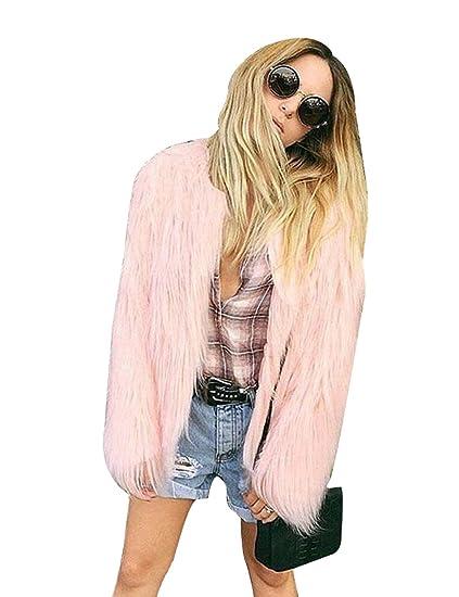 Pelz Kunstpelz Winter Fur Outwear Cravog Mantel Flauschiges Damen Parka Jacke 8P0wkXnO