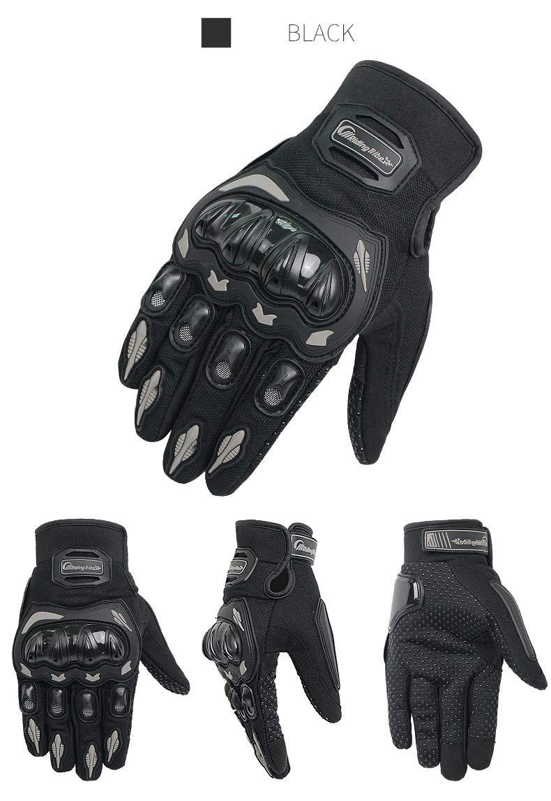 XuBa Unisexe Gants de Moto d/ét/é Respirant Moto d/équitation /équipement de Protection antid/érapant /écran Tactile Guantes
