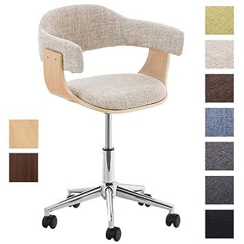 Holz Bürostuhl clp design bürostuhl brügge mit hochwertiger polsterung und