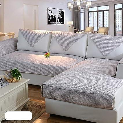 YEARLY Antideslizante Acolchado Funda para sofá, Algodón Funda de sofá Cubrecanapé Protector de Muebles para