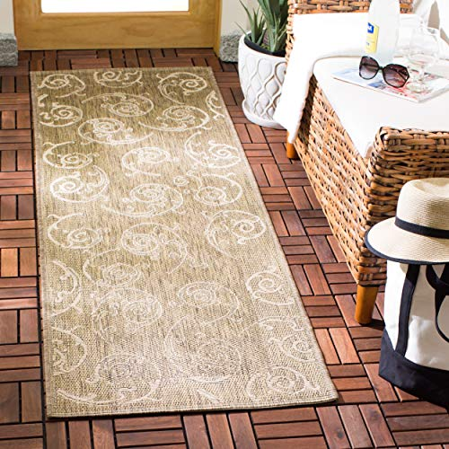 Courtyard Cy2665 Natural - Safavieh Courtyard Collection CY2665-3009 Brown and Natural Indoor/ Outdoor Runner (2'3