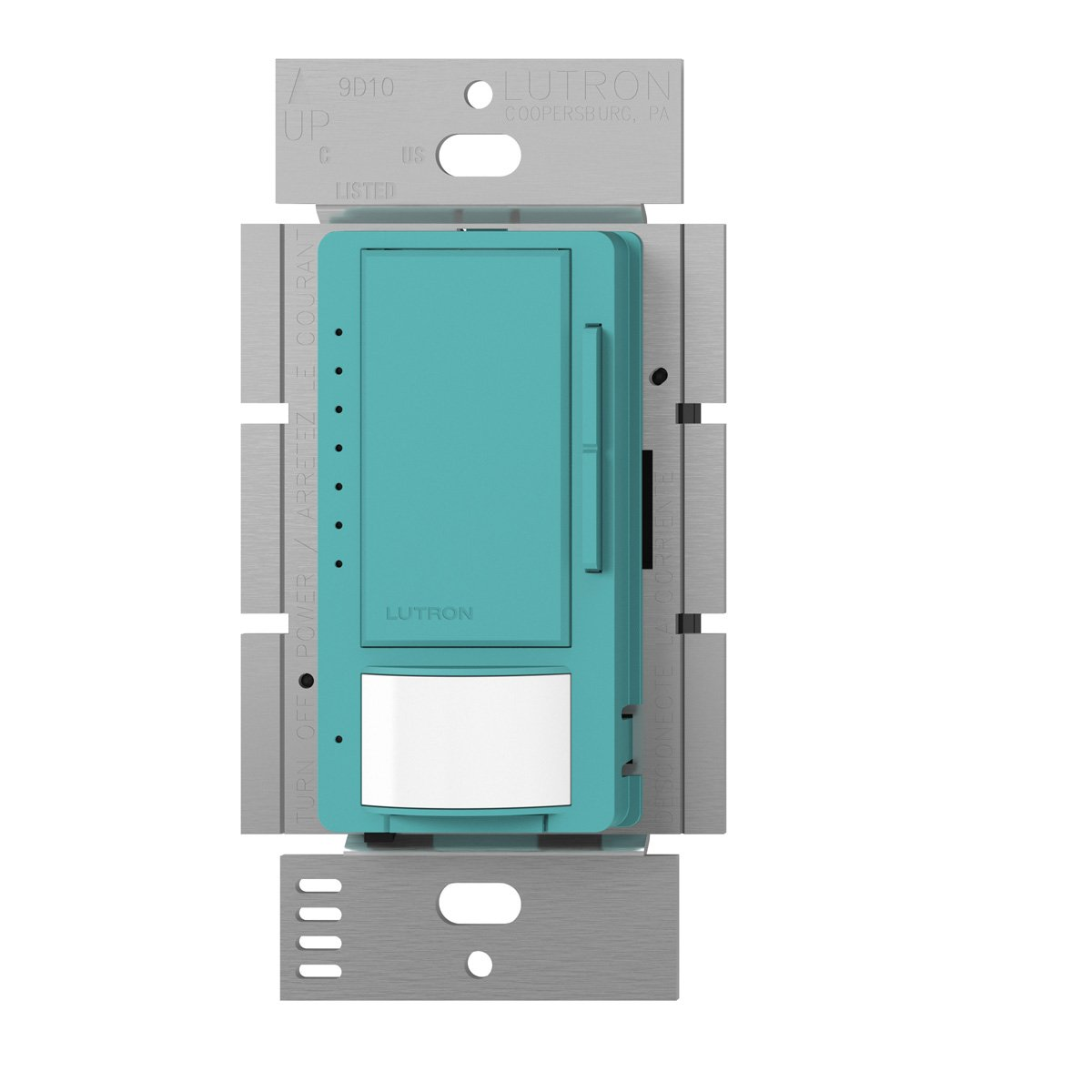 Lutron Maestro C.L Dimmer and Motion Sensor, Single-Pole and Multi-Location, MSCL-OP153M-TQ, Turquoise