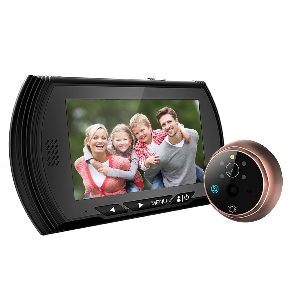 Front door peephole camera - Weksi 4 3 Tft Lcd Screen Digital Peephole Door Viewer Camera Pir Motion Detection Doorbell 140