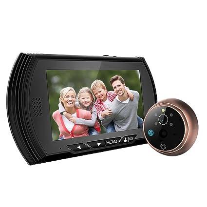 Weksi pantalla de 4,3 TFT LCD Digital mirilla Puerta Visor cámara PIR detección de