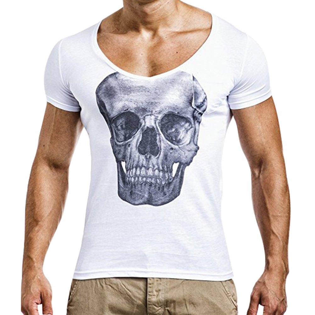 Yying Basic Hip Hop Fitness Shirt Manica Corta da Uomo Maglietta Solid T-Shirt Manica Corta Bianca, Grigia, Nera B180421MT2-Y