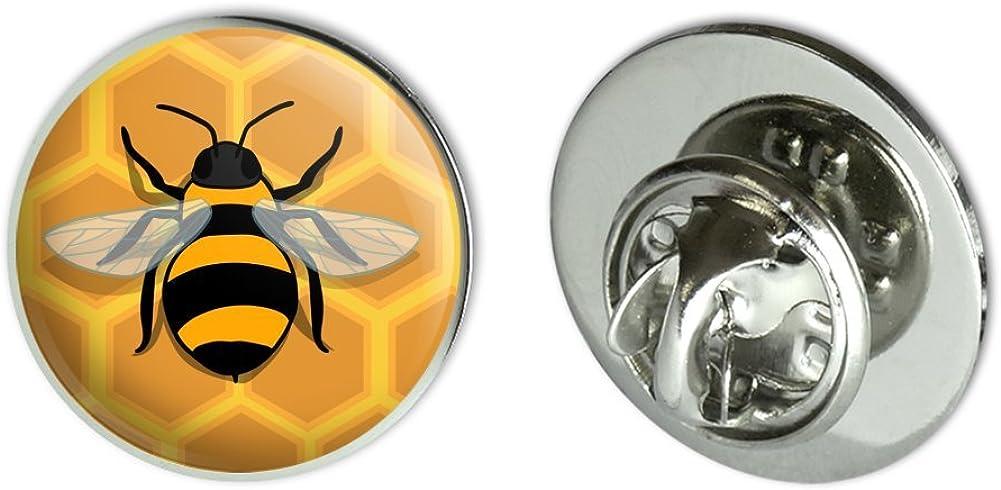 "GRAPHICS & MORE Bee on Honeycomb Metal 0.75"" Lapel Hat Pin Tie Tack Pinback"
