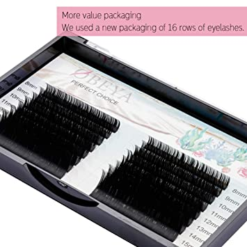 887612cfe4c Eyelash Extensions 0.10 C Curl Individual Eyelash Extensions 8-15mm Mixed  Tray Faux Mink Lashes