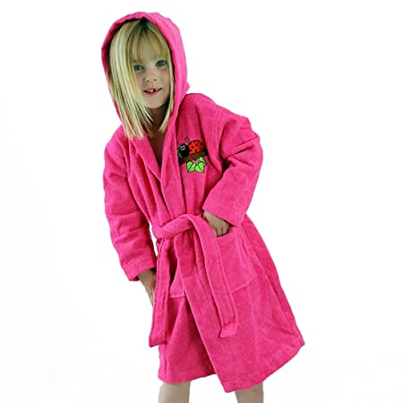 4eeeeec9a3 Towelsrus Little Lady Bird Hooded Dressing Gown