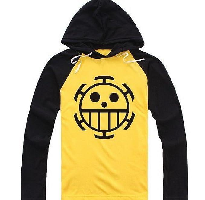 3562efc3f8bf One Piece Cosplay Trafalgar Law T-Shirt con cappuccio maglione lungo  manicotto Shirts ltext shoperama: Amazon.it: Abbigliamento