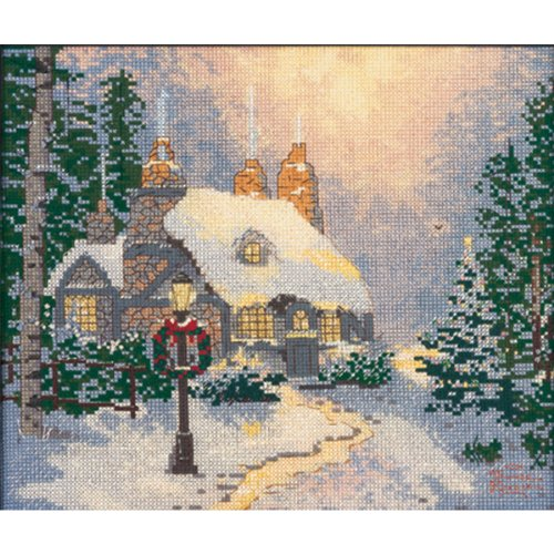 M C G Textiles 14 Count Thomas Kinkade Stonehearth Hutch Counted Cross Stitch Kit, 10 by 8-Inch ()