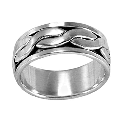 SPINNER REVOLVING SILVER RING UNISEX You choose size N up to Z2 LK24o04RkB