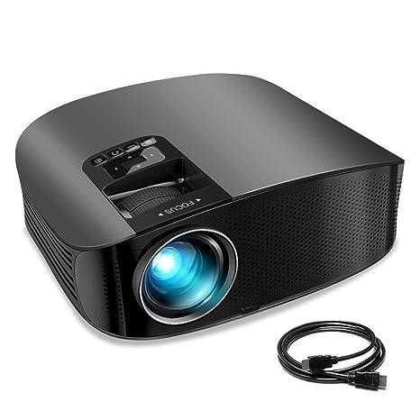 GLXLSBZ Proyector HD, Cine en casa portátil Mini 1080P LCD ...
