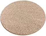 Cheap 9' ROUND Beige Area Rug. FRIEZE plush textured CARPET for residential or commercial use. Approximately 1/2″ thick with binding.