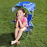 Kids Camp Chair Folding Portable Outdoor Cute Kid Beach Chair with Canopy for Max Sun Protection & eBook by jn.widetrade.