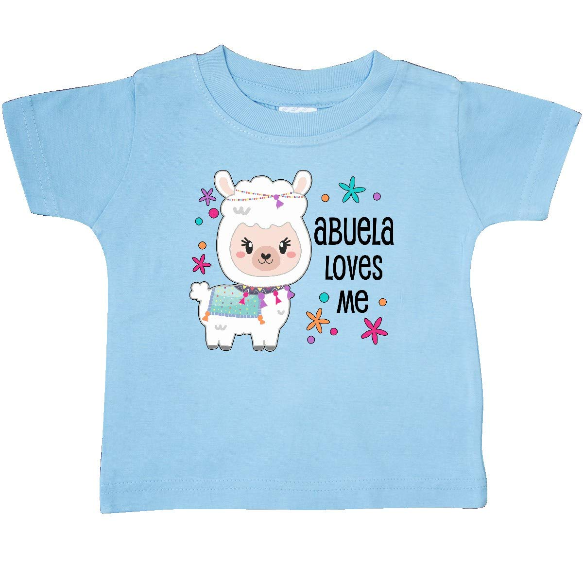 Cute and Happy Llama Baby T-Shirt inktastic Abuela Loves Me