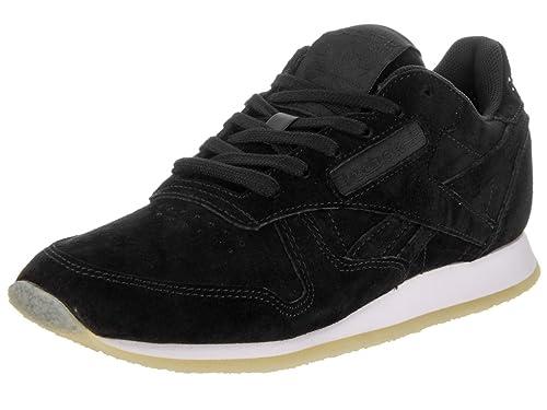 5c419e33f07 Reebok Classic Leather Crepe Trainers Black 5 UK  Amazon.co.uk ...