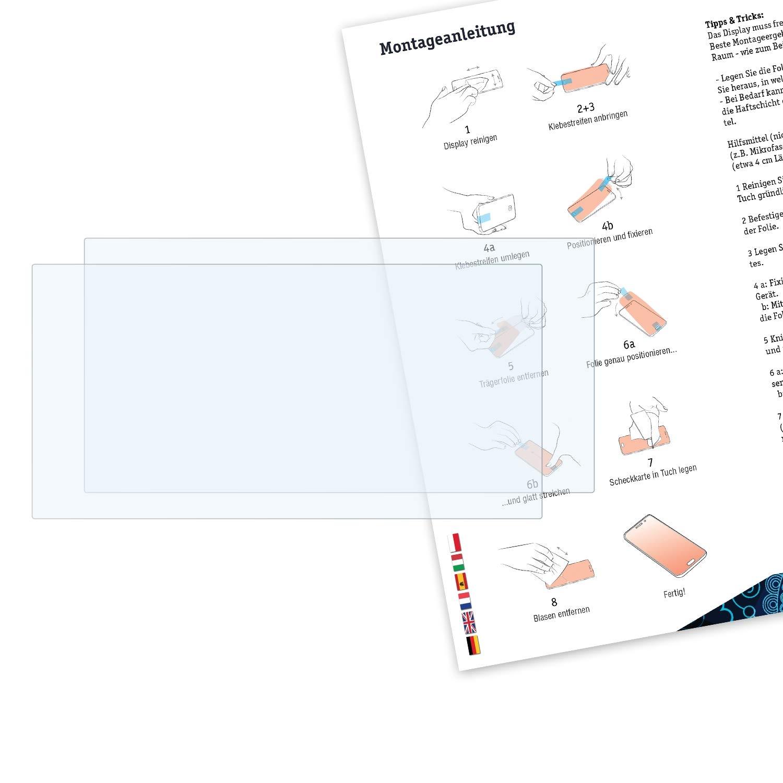 2X Claro L/ámina Protectora Bruni Pel/ícula Protectora para Sony PRS-T2 Reader Protector Pel/ícula
