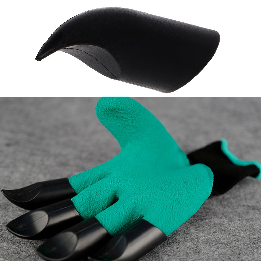 Hacloser 4Pcs/set Digging Claw Gloves, Plastic Claws Plant Gloves Garden Supplies Digging Protective Safety Party Decor