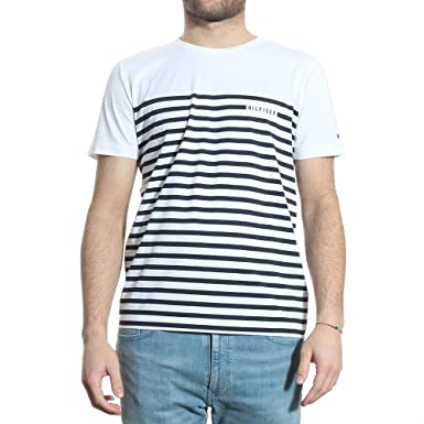 6740f5fed Tommy HILFIGERTee Shirts Manches Courtes Hommes - MW0MW10248: Amazon ...