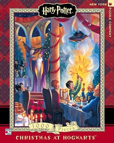 New York Puzzle Company - Harry Potter Christmas at Hogwarts - 1000 Piece Jigsaw Puzzle