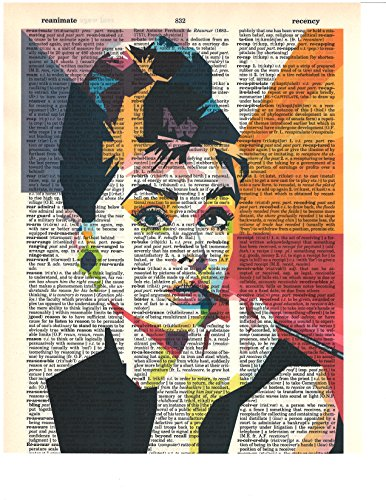 Signature Studios Audrey Hepburn photo Hollywood Actress vintage dictionary art wall decor prints 8x10 (Vintage Fashion Art)