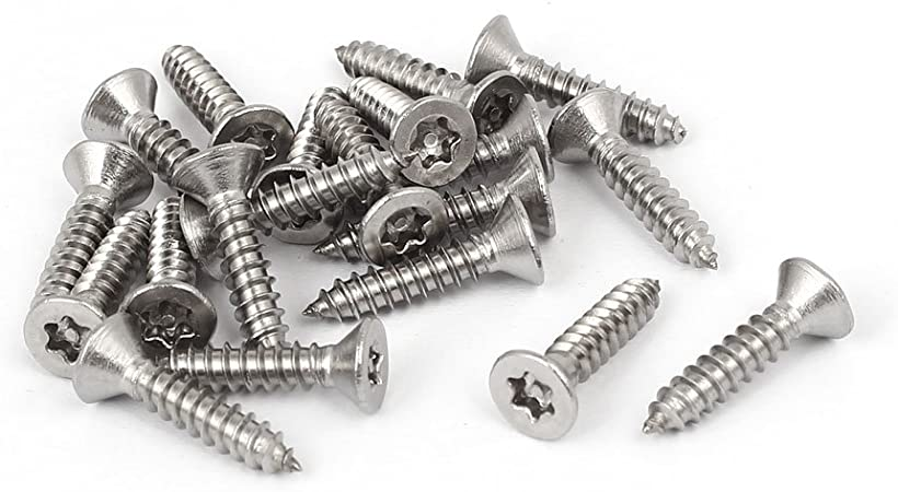 uxcell #10 x 3//4 Self Tapping Screws 410 Stainless Steel Phillips Pan Head Self Drilling Screws 100pcs