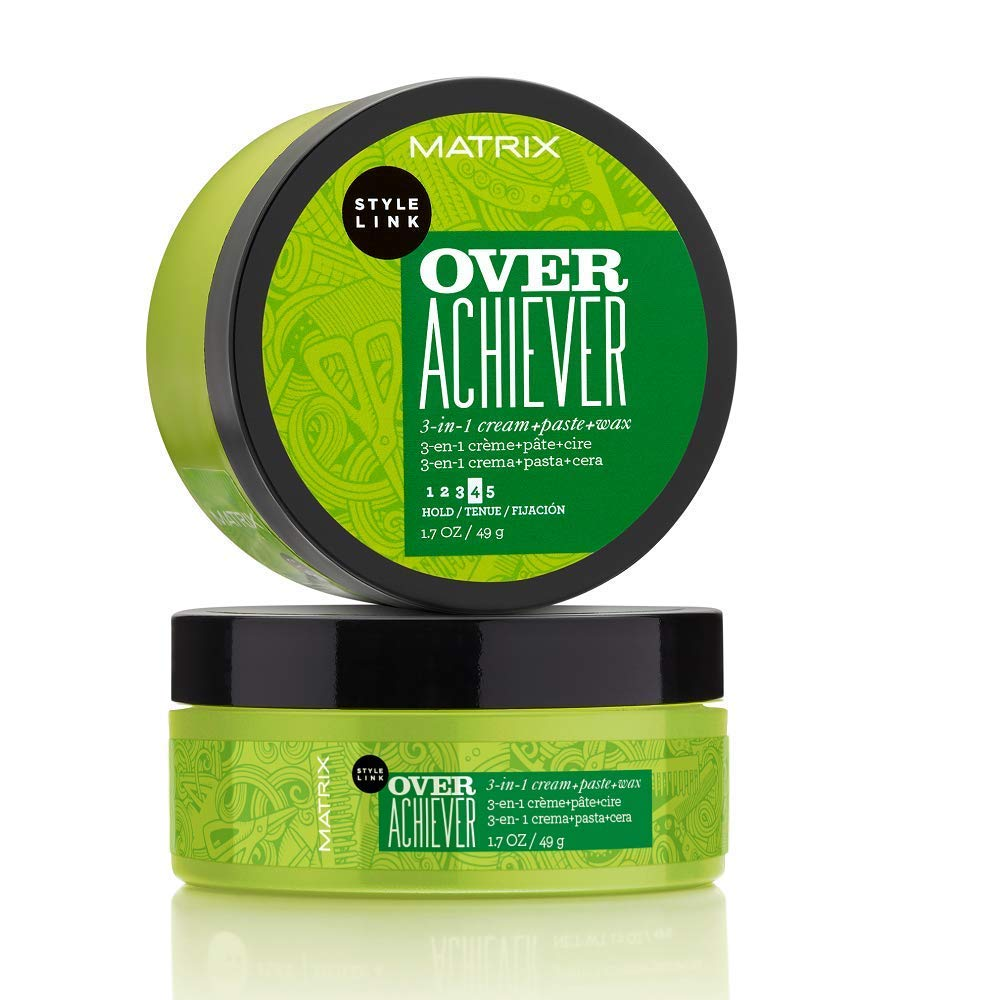 Amazon Com Matrix Style Link Over Achiever 3 In 1 Cream Paste Wax Creates Texture For Short Hair 1 7 Fl Oz Premium Beauty