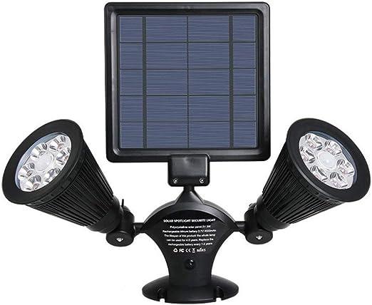 YANKAN Linternas Solares Proyector, Lámpara de Pared de Jardín/al ...