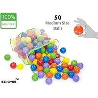 EEVOVEE Coloured Pool Balls for Kids, 6cm - Pack of 50