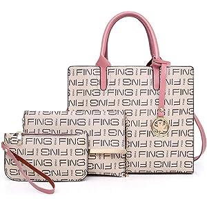912097498ef Womens Purses and Handbags Set Top Handle Handbag Shoulder Tote Bags for  Women