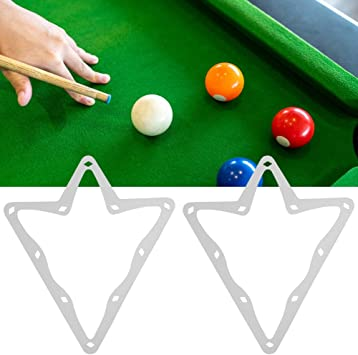 KEENSO 6Pcs Billar Mágico Rack Sheet Table Pool Pool 10-Ball Paper ...