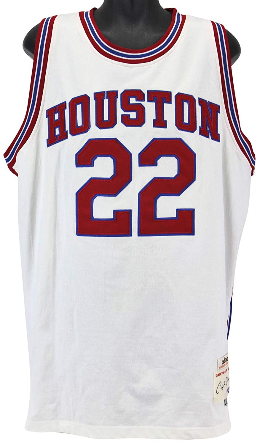 new product 4c2b9 f3939 Rockets Clyde Drexler HOF 04 Autographed Signed White True ...