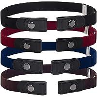 BESTZY Cinturón de hebilla redonda Cinturón de piel para mujer para Mujer Señoras Cinturones Estrechos para Jeans…