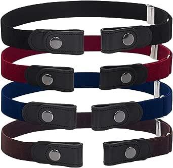 BESTZY Cinturón de hebilla redonda Cinturón de piel para mujer para Mujer Señoras Cinturones Estrechos para Jeans/Vestido con Hebilla Redonda