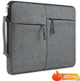 LABOL 12,9-13,3 Inch Nylon Waterproof Dark Grey Laptop Sleeve Case Bag with Side Pockets for MacBook Pro 13', MacBook Air Retina 13.3', iPad Pro 12.9',Surface Pro Book,Tablet,Chromebook