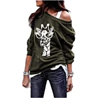 neveraway Women Floral Printed Blouse Plus Size Casual Stylish Long-Sleeve T-Shirt