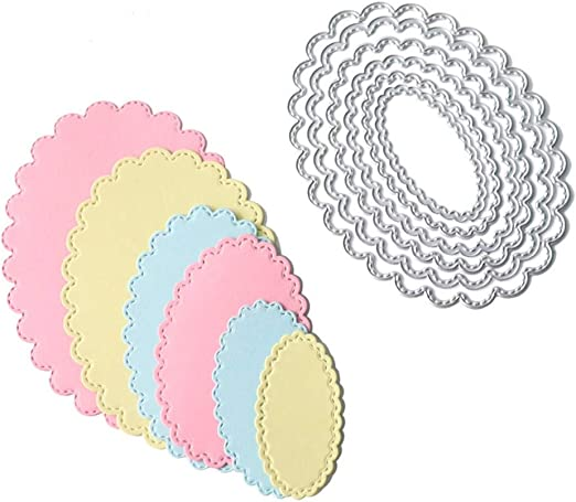 Leaf Ring Round Frame Cutting Dies Cuts for Scrapbooking Making Embossing Craft