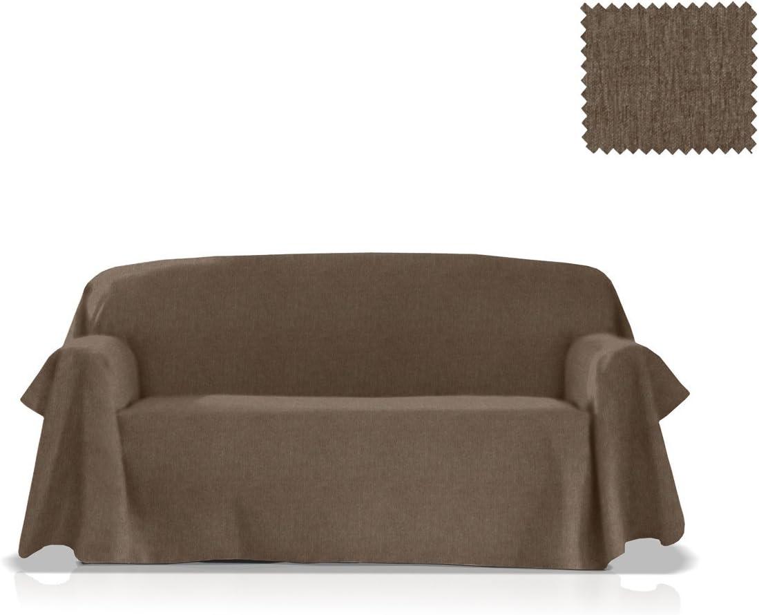 55 cm JM Textil Couvre-canap/é Larissa Taille 1 Place Couleur Ivoire