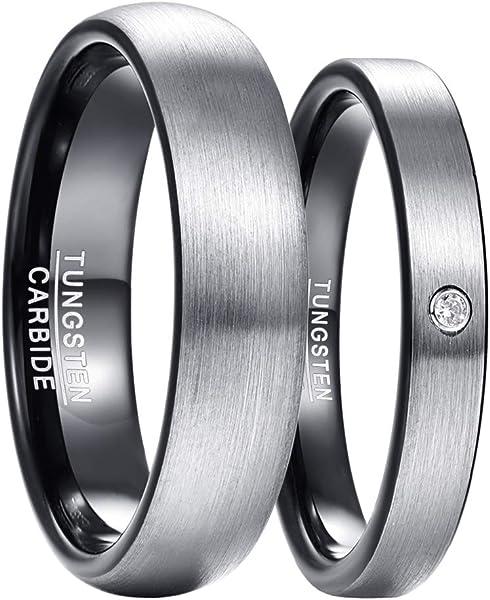 Denvosi Men Wedding Band Tungsten Ring 6MM Mate Brushed Surface High...