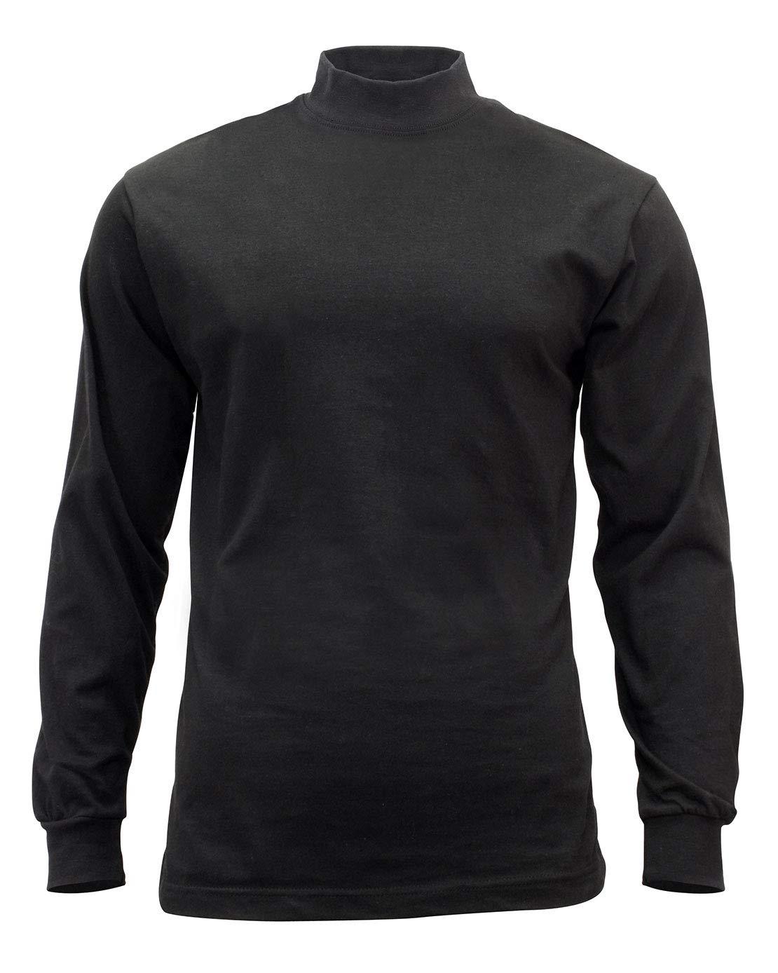 Rothco Mock Turtleneck, 4XL, Black
