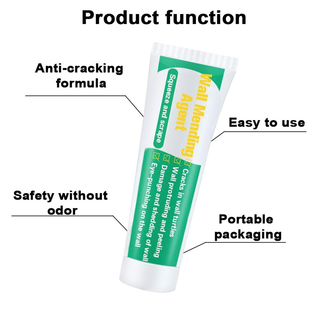 FakMe Wall Repair Cream Valid Mouldproof and Green Environmental Protection Wall Crack Nail Repair Cream Restore Ointment (100ml, Green)