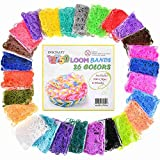 Loom Rubber Bands, 12750pc Rubber Band Refill Kit in 26 Colors with 500 Clips 6 Hooks, INSCRAFT Loomy Bands