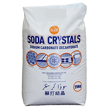 Soda Cristales, 25 kg, el original quitamanchas