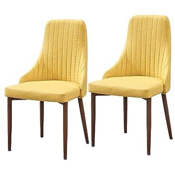 MMZZ Juego de 2 sillas Modernas de imitación de Madera para café de ...