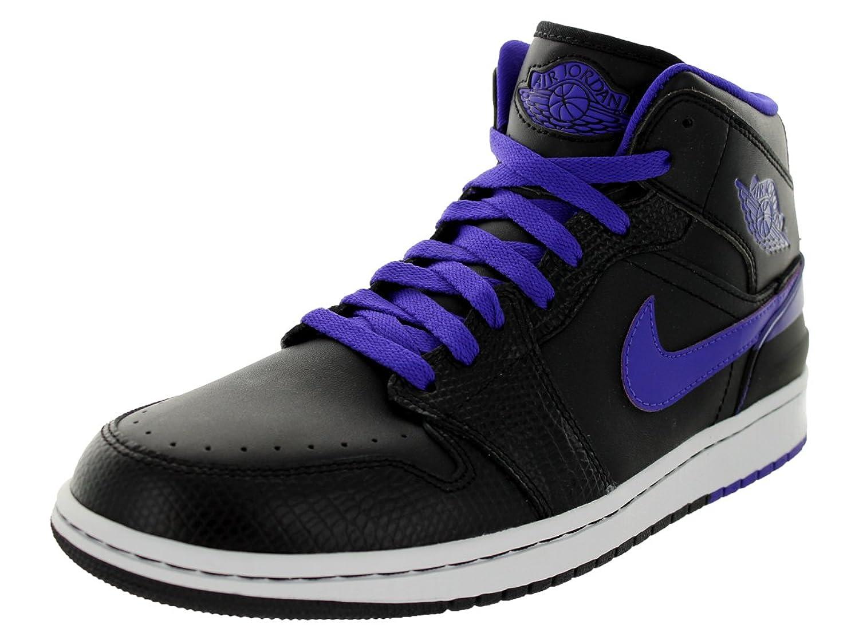 ae0dd92536bc ... Amazon.com Nike Mens Jordan 1 Retro 86 BlackDark ConcordWhite Basketball  Shoe 11 Men US AJ1 ...
