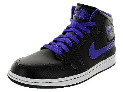 Nike Men's Jordan 1 Retro '86 Black/Dark Concord/White Basketball Shoe 8.5